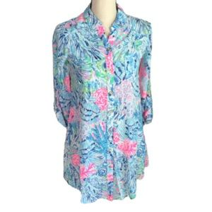 Lilly Pulitzer Natalie Coverup Sink or Swim NEW